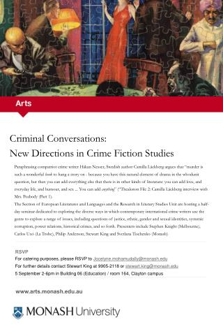 Criminal Conversations:  New Directions in Crime Fiction Studies