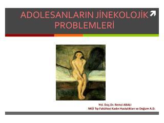ADOLESANLARIN JİNEKOLOJİK PROBLEMLERİ