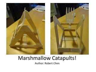 Marshmallow Catapults! Author: Robert Chen