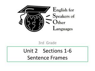 Unit 2     Sections  1-6 Sentence Frames