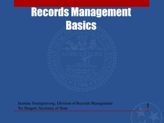 Records Management Basics