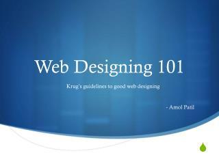 Web Designing 101
