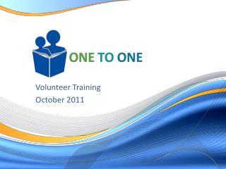 Volunteer Training October 2011
