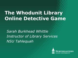 The Whodunit Library Online Detective Game