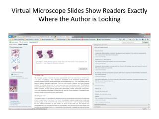 Virtual Microscope Slides Show Readers Exactly Where the Author is Looking