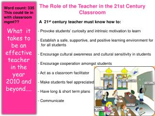 The  Role  of the  Teacher  in the 21st Century  Classroom