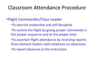 Classroom Attendance Procedure