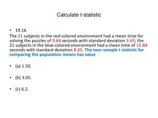 Calculate t-statistic