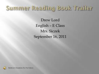 Summer Reading Book Trailer