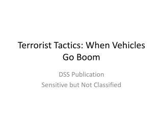 Terrorist Tactics: When Vehicles Go Boom