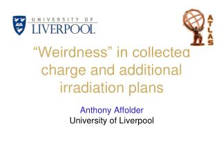 """Weirdness"" in collected charge and additional irradiation plans"