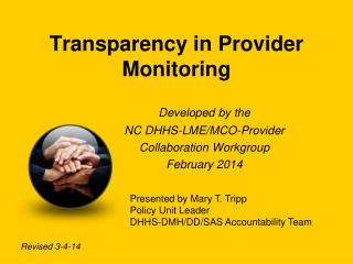 Transparency in Provider Monitoring