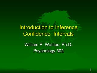 Introduction to Inference Confidence  Intervals