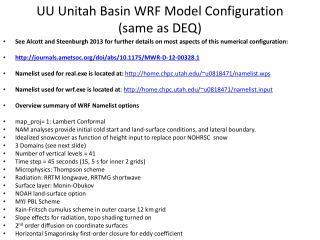 UU  Unitah  Basin WRF Model Configuration (same as DEQ)