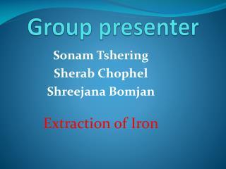 Group presenter