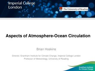 Aspects of Atmosphere-Ocean Circulation
