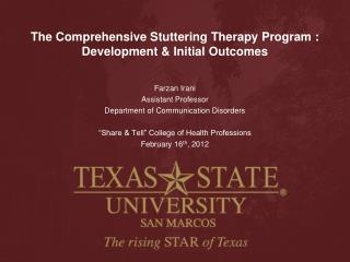 The Comprehensive Stuttering Therapy Program  : Development & Initial Outcomes