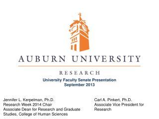 Carl A. Pinkert, Ph.D. Associate Vice President for Research