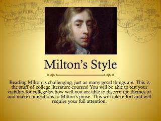 Milton's Style
