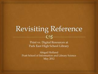 Revisiting Reference