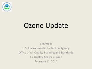 Ozone Update