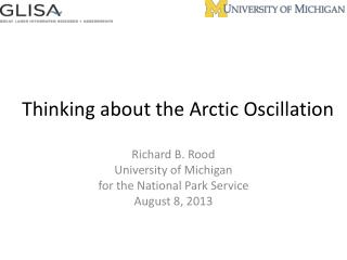 Thinking about the Arctic Oscillation