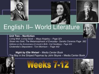 English II–  World Literature