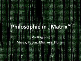 Vortrag von Melda, Tobias, Michaela, Florian