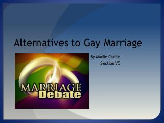 Alternatives to Gay Marriage