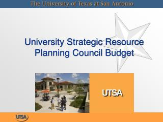 University Strategic Resource Planning Council Budget