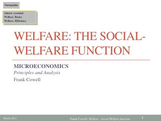 Welfare: The Social-Welfare Function