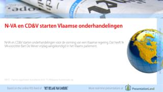 N-VA en CD&V starten Vlaamse onderhandelingen