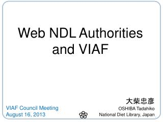 Web NDL Authorities and VIAF