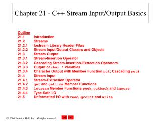 Chapter 21 - C Stream Input