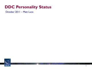 DDC Personality Status
