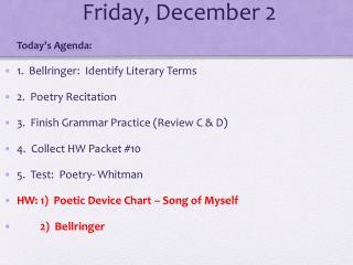 Friday, December 2