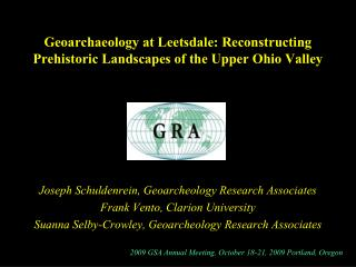 Geoarchaeology at Leetsdale: Reconstructing Prehistoric Landscapes of the Upper Ohio Valley