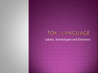 TOK -language