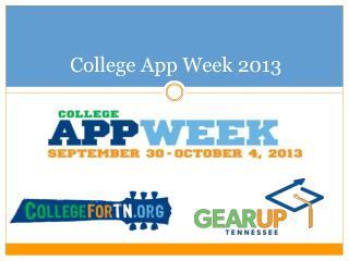 College App Week 2013