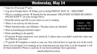 Wednesday, May 14