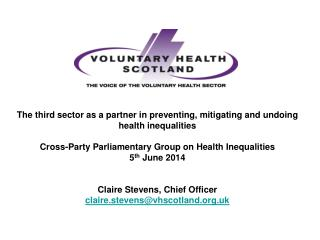 The national network & voice  for voluntary health organisations Working with all sectors to