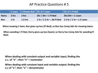 AP Practice Questions # 5