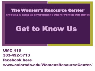 The Women's Resource Center