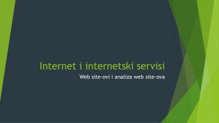 Internet i internetski servisi