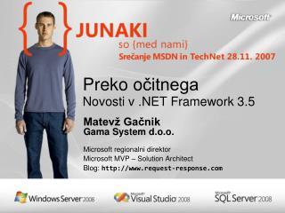 Preko o čitnega Novosti v .NET Framework 3.5