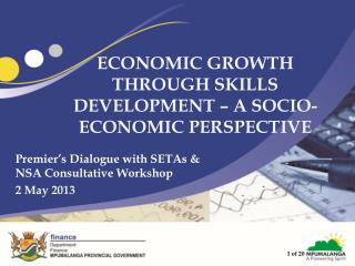 ECONOMIC GROWTH THROUGH SKILLS DEVELOPMENT � A SOCIO-ECONOMIC PERSPECTIVE