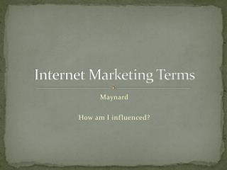 Internet Marketing Terms