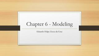 Chapter 6 - Modeling
