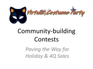 Community-building Contests