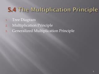 5.4  The Multiplication Principle
